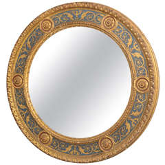 19th Century Florentine Round Mirror