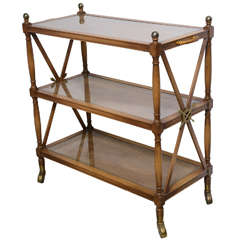 Neoclassical Style Three-Tiered Bar Cart