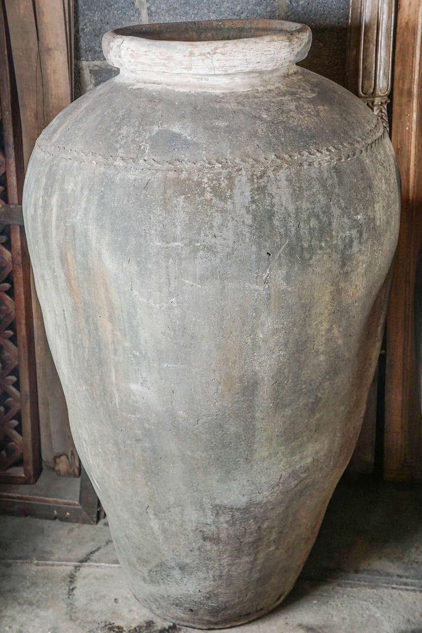 Indian Monumental 19th Century Low Fired Clay Pots For Sale