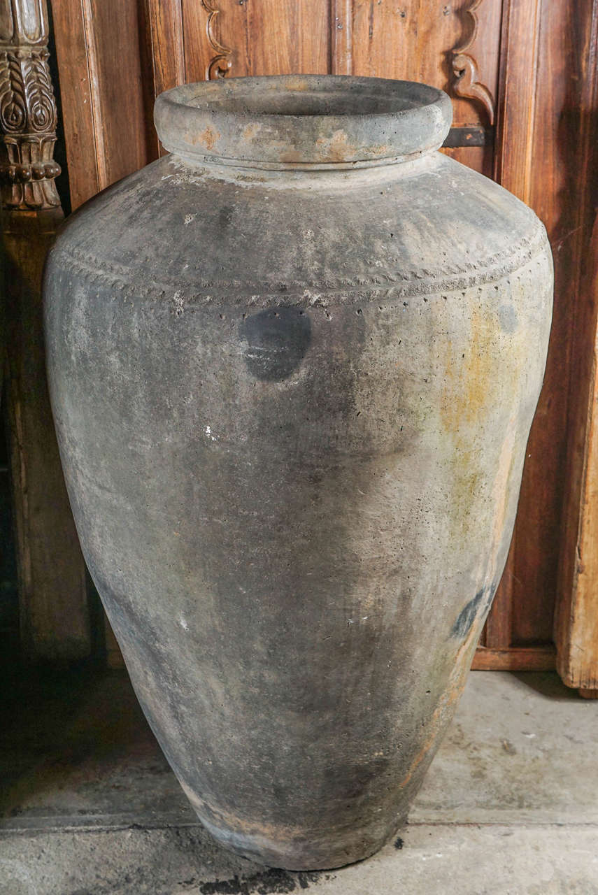 Monumental 19th Century Low Fired Clay Pots For Sale 3