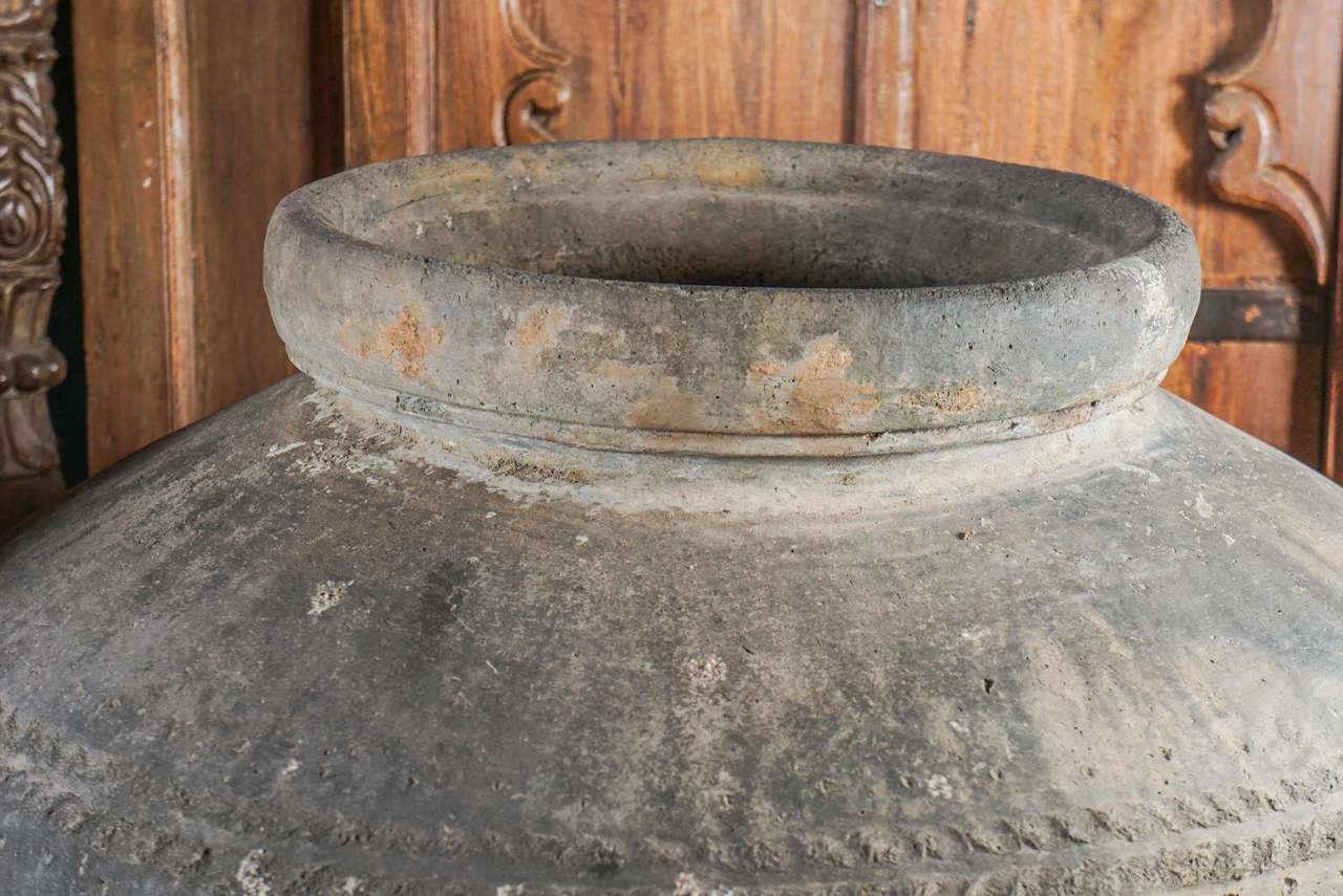 Monumental 19th Century Low Fired Clay Pots For Sale 4