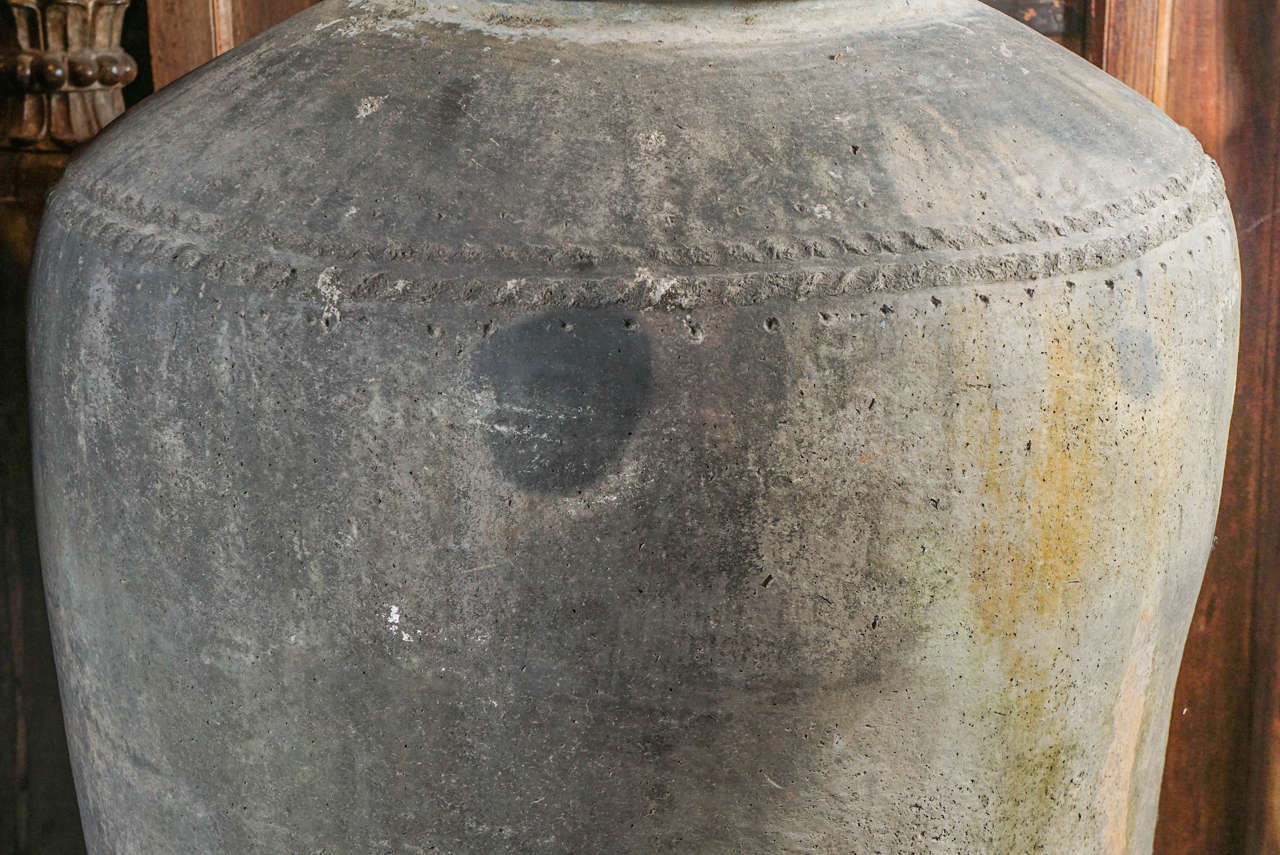 Monumental 19th Century Low Fired Clay Pots For Sale 5