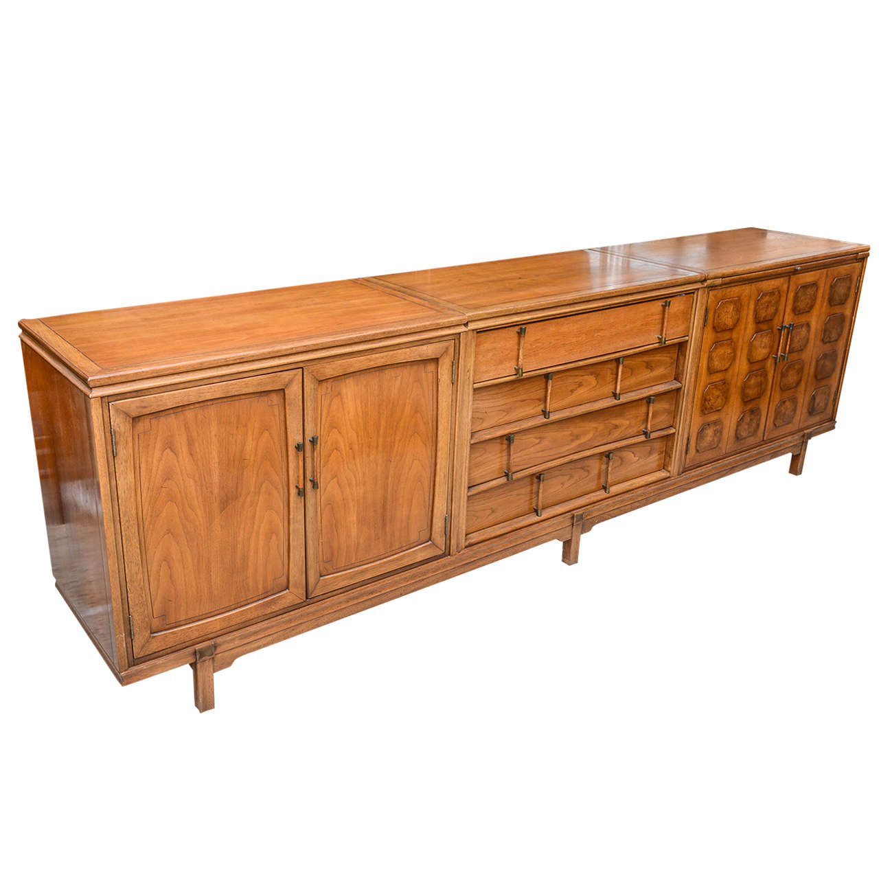Long modern age credenza or entertainment center 1960s for Long furniture