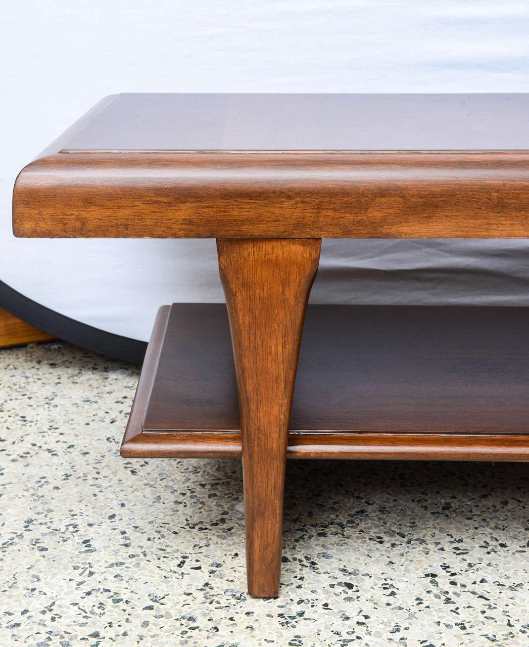 Lane Long Coffee Table: Long Lane Wooden Coffee Table, USA 1970s At 1stdibs