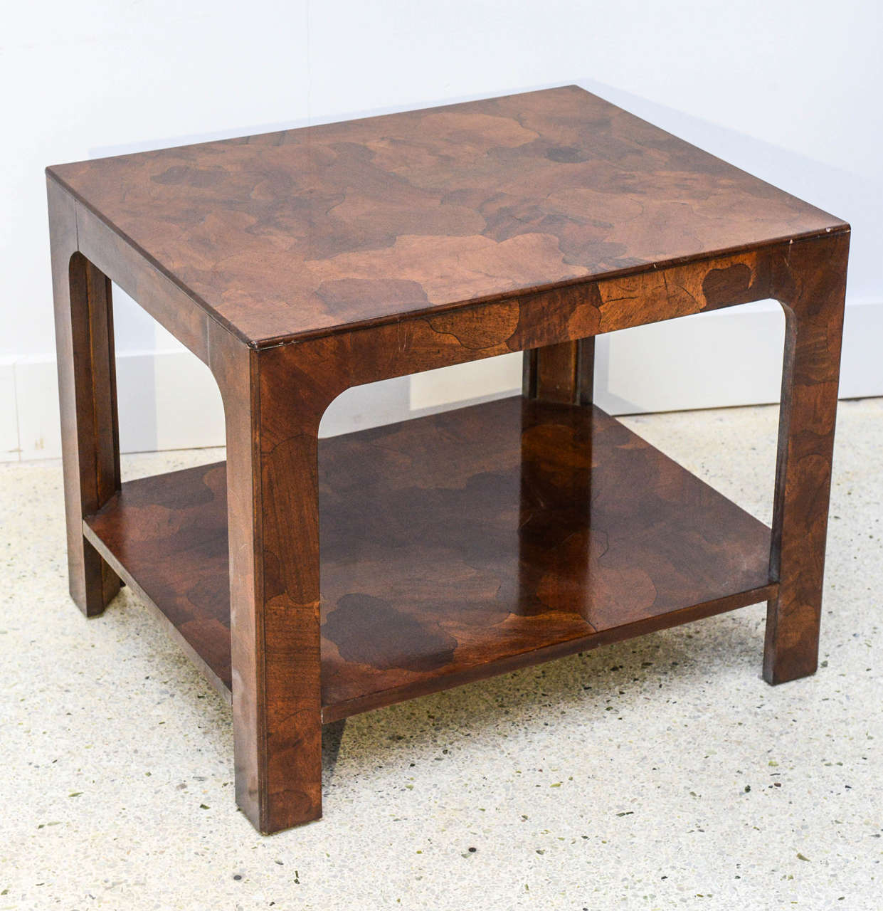 Mid-Century Modern American Modern Inlaid Mixed Wood Table, American of Martinsville For Sale