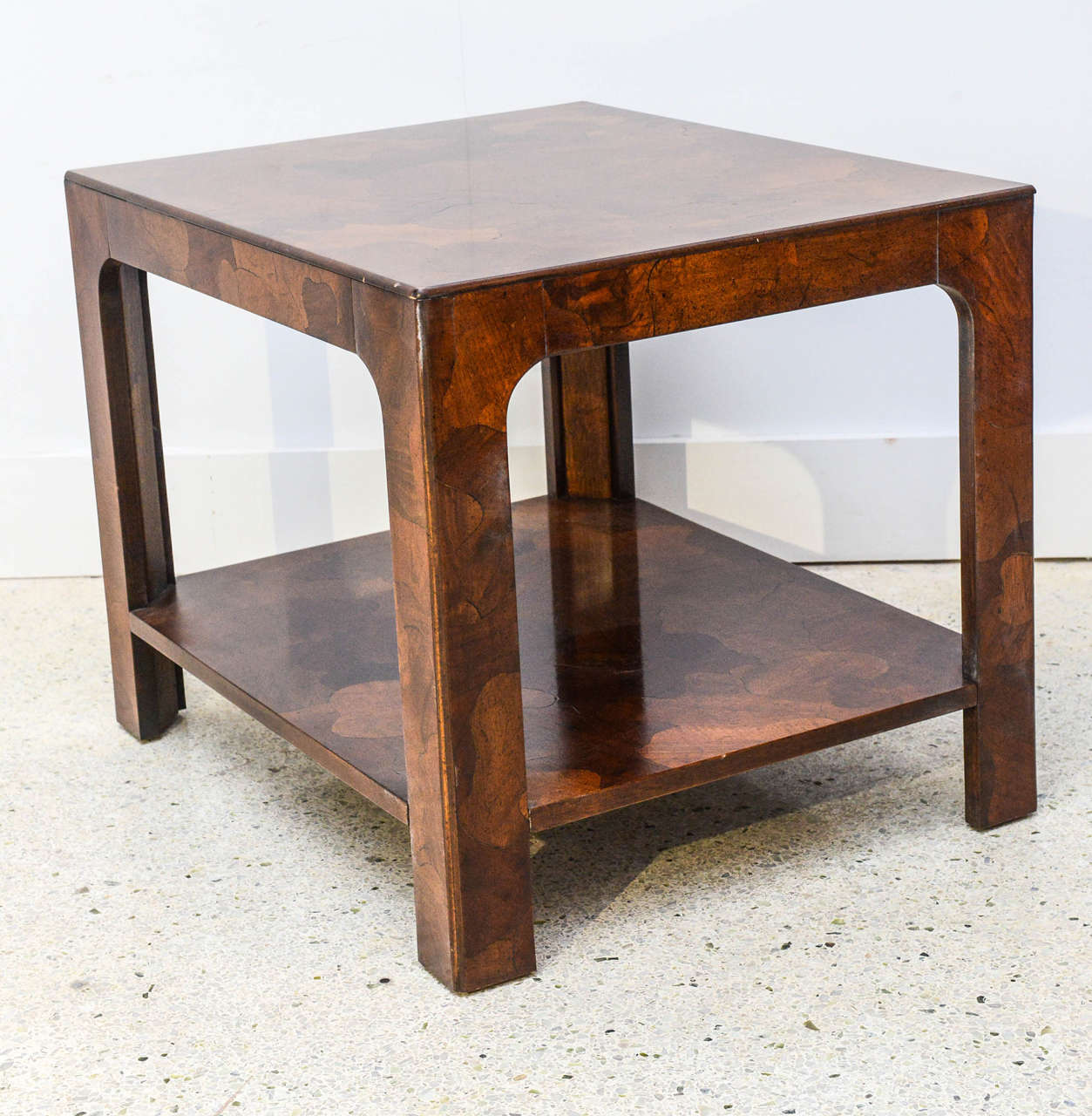 American Modern Inlaid Mixed Wood Table, American of Martinsville In Excellent Condition For Sale In Miami, FL