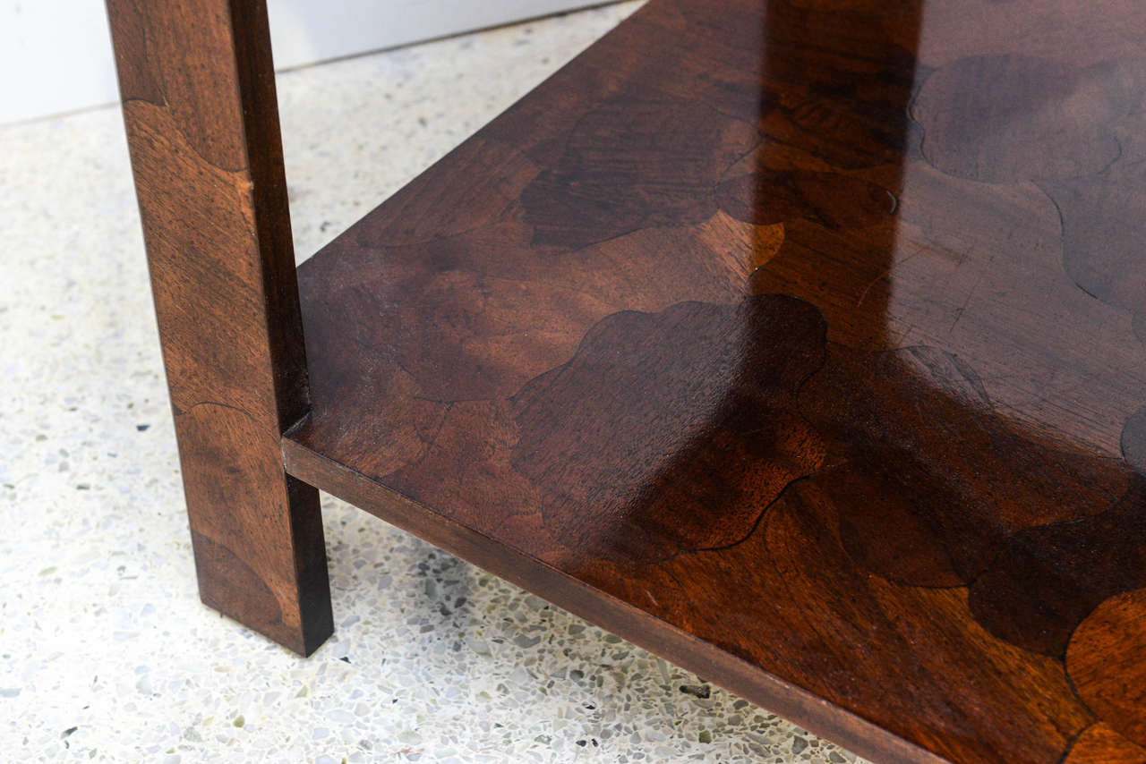 American Modern Inlaid Mixed Wood Table, American of Martinsville For Sale 2
