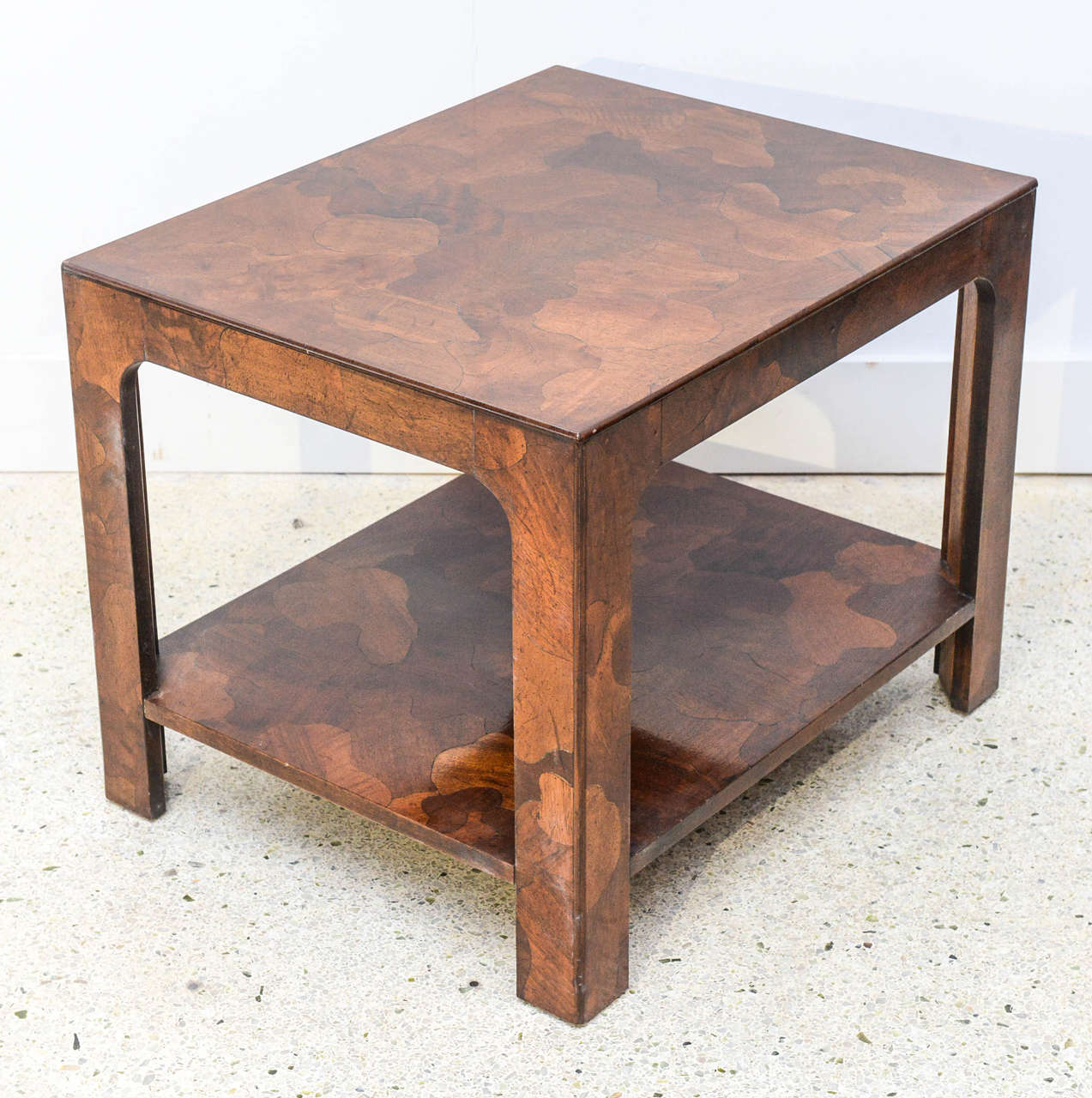 American Modern Inlaid Mixed Wood Table, American of Martinsville For Sale 3