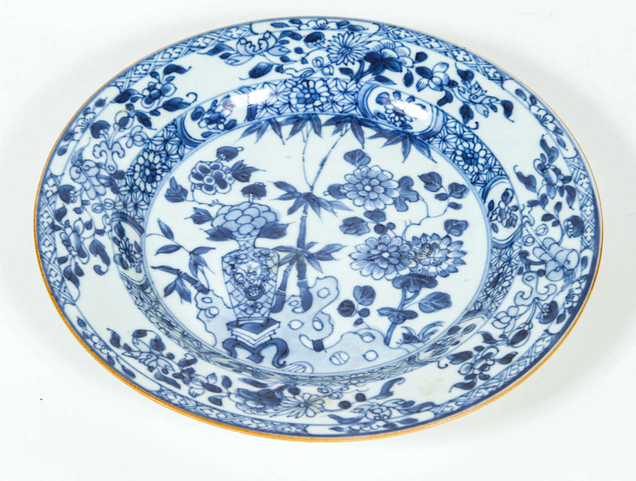 Chinese Blue And White Porcelain Plate 19th Century At