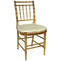 English Regency Faux Bamboo Side Chair