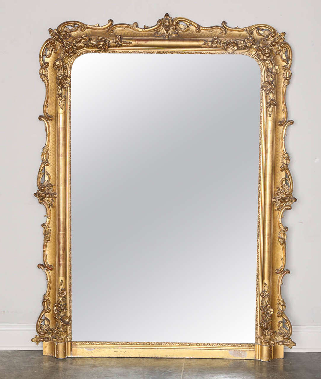 19th Century French Louis Xv Style Gold Gilt Mirror At 1stdibs