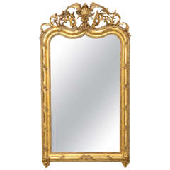 19th Century French Gold Gilt Mirror, Louis XIV Style
