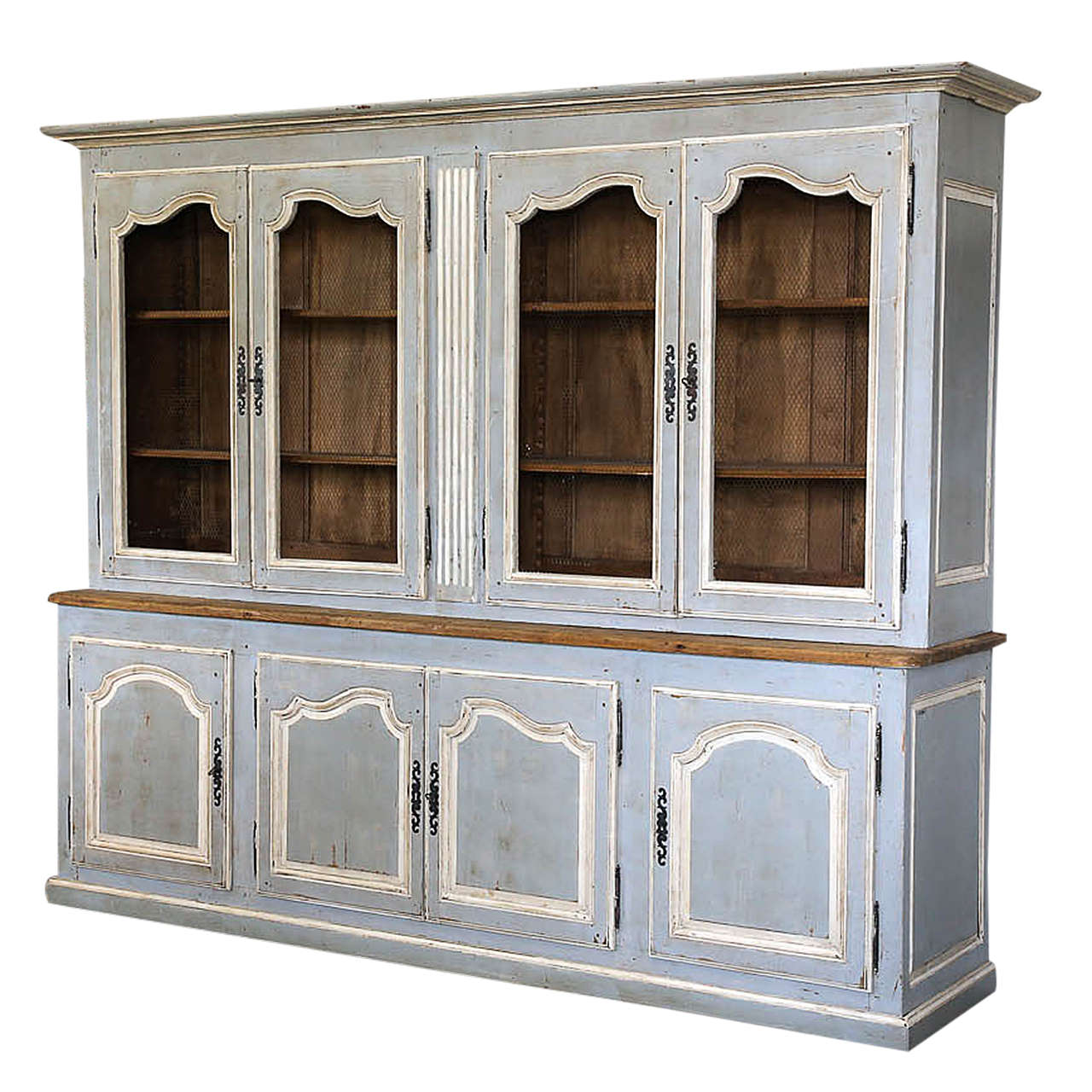 painted french louis xv style bibliotheque or bookcase at. Black Bedroom Furniture Sets. Home Design Ideas