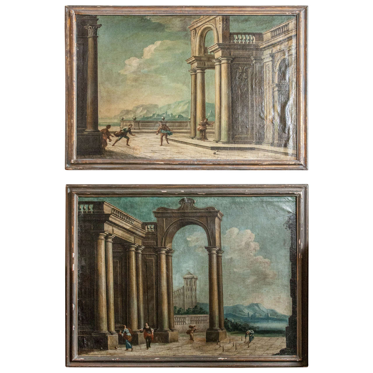 Marvelous photograph of  Century Framed Capriccio Oil on Canvas of Ruins For Sale at 1stdibs with #827249 color and 1280x1280 pixels