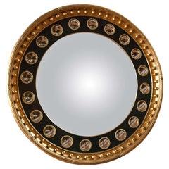 Unusual 20th Century Convex Mirror