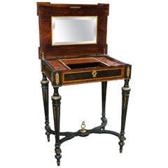 Lift Top Louis XVI Style Lady's Vanity