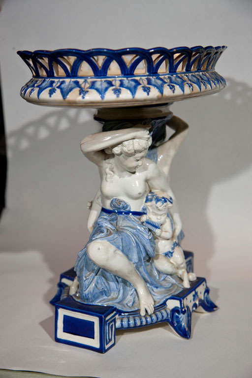 "14"" High Wedgwood Signed Majolica Centerpiece image 6"