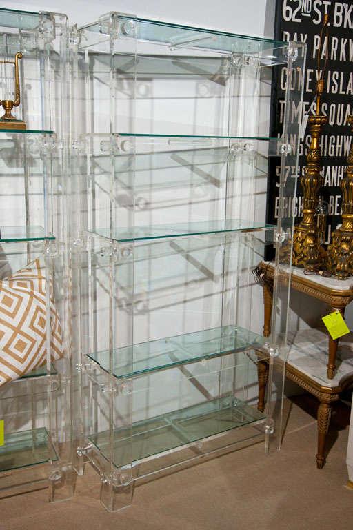 Exceptional Pair of Vintage Lucite étagère or Bookshelves 4