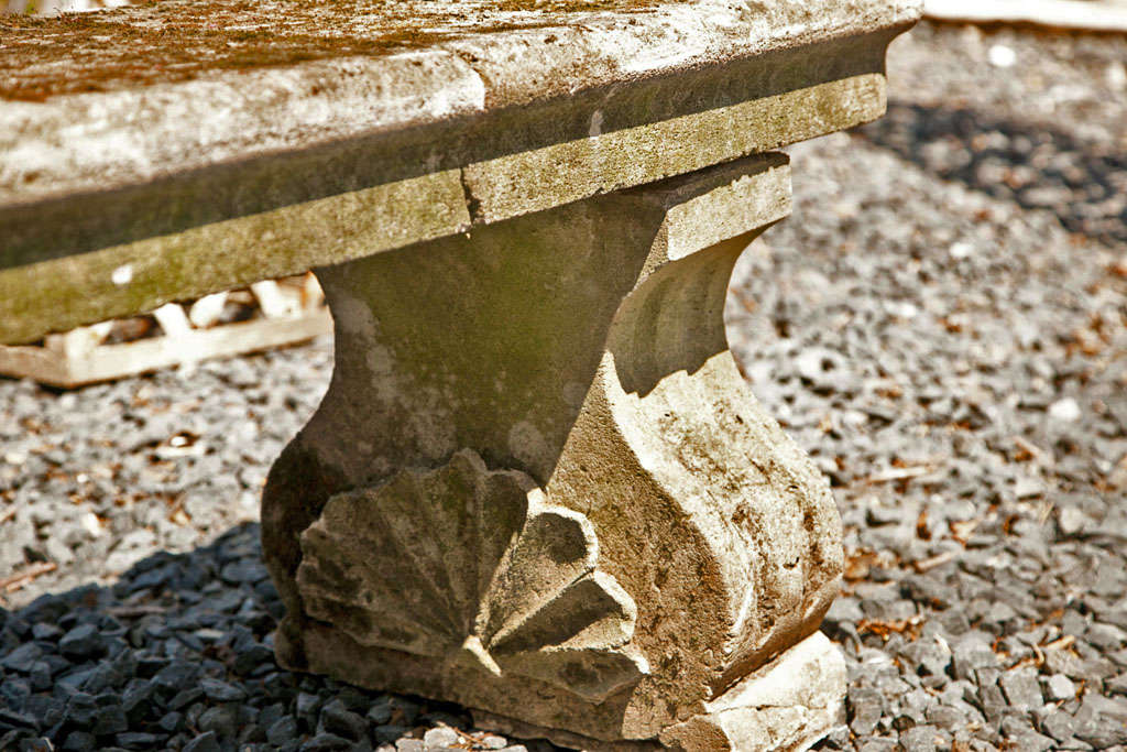 Unusual Long Limestone Bench For Sale At 1stdibs