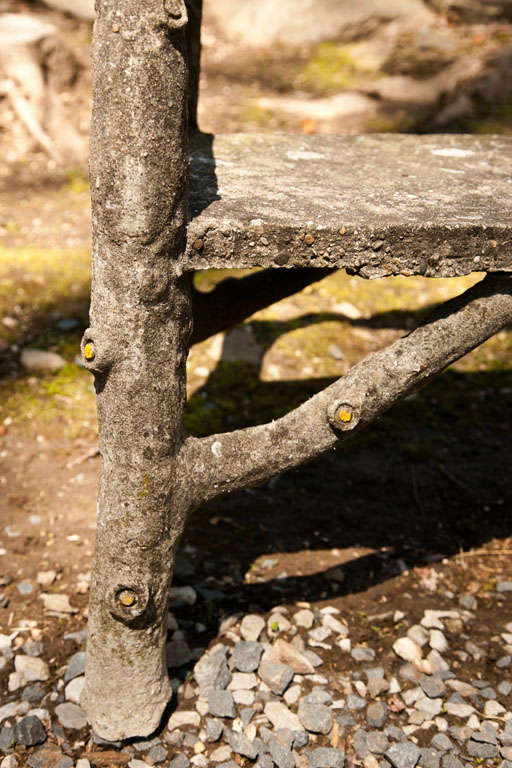 Naturalistic Style Long Cement Bench At 1stdibs