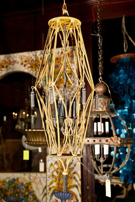Gilt Rope Lantern For Sale 1