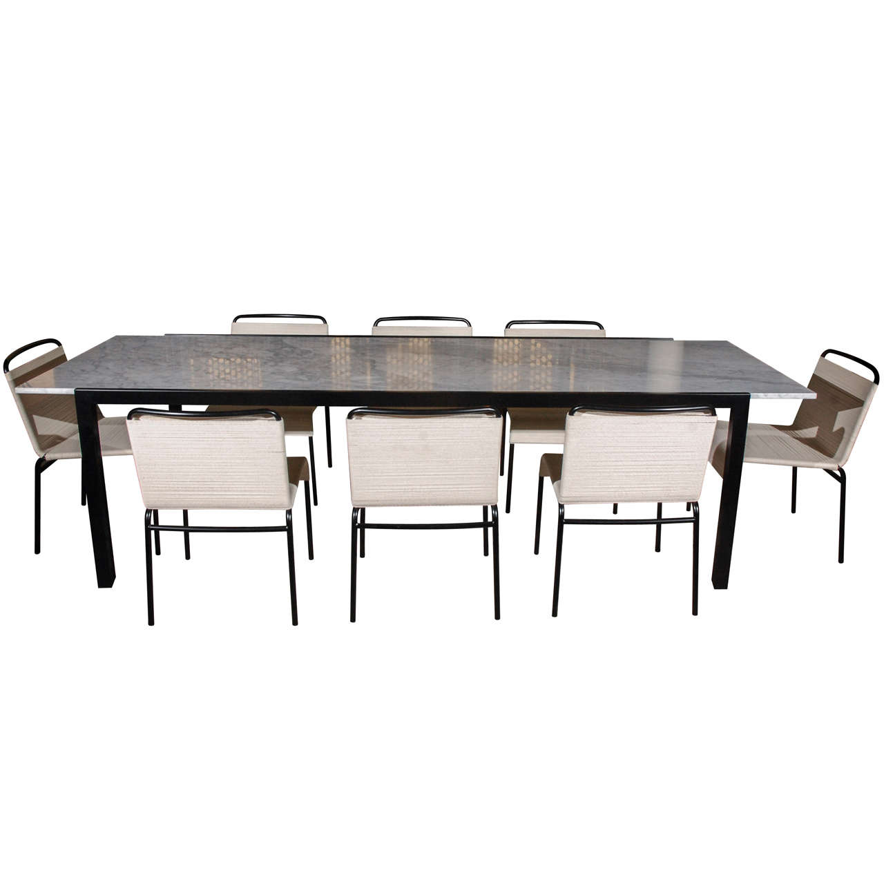 Van Keppel Green Dining Table and Chairs