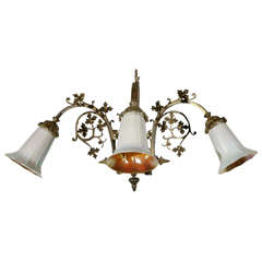 Cast Brass Gothic Sconce