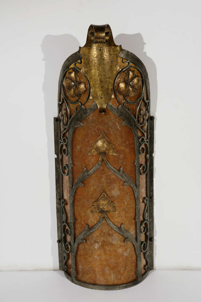 American Cast Brass Sconce For Sale