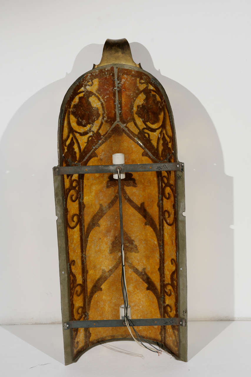 Cast Brass Sconce For Sale 4
