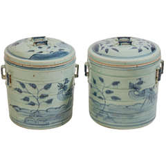 Set of Antique Painted Earthenware