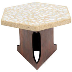 Terrazzo Top Side Table by Harvey Probber
