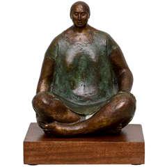Bronze Seated Woman 1973 by Felipe Castaneda