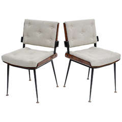 Pair of 60's French Chairs by Alain Richard