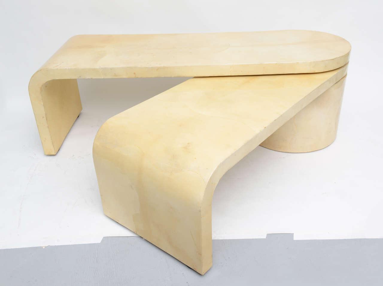 Expandable Goatskin Coffee Table 2