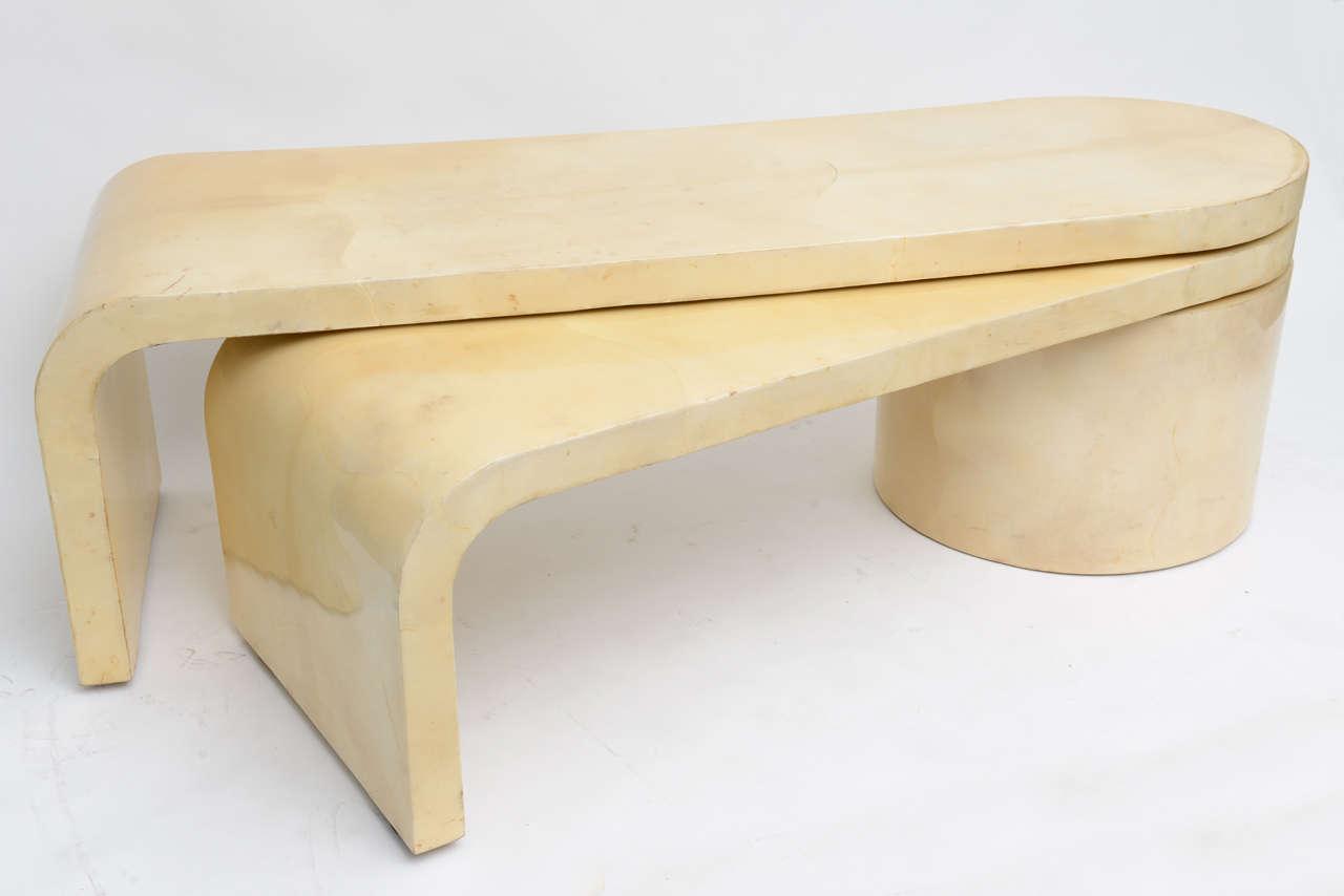 Expandable Goatskin Coffee Table 3
