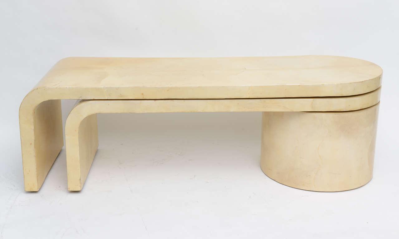 Expandable Goatskin Coffee Table 4