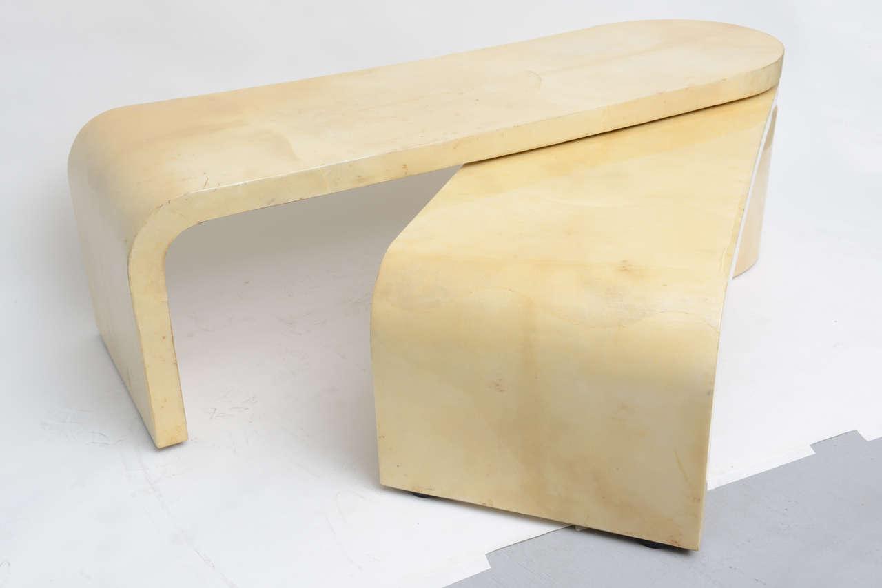Expandable Goatskin Coffee Table 5
