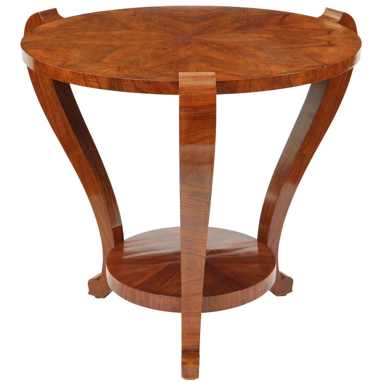 Walnut round art deco side table 1930s at 1stdibs walnut round art deco side table 1930s geotapseo Images