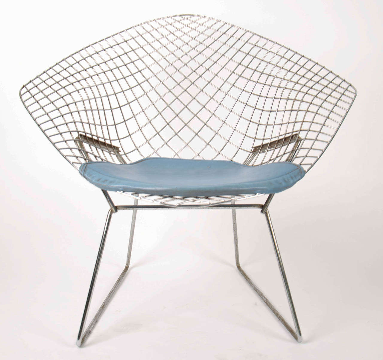 harry bertoia chrome diamond chair 1950 at 1stdibs. Black Bedroom Furniture Sets. Home Design Ideas