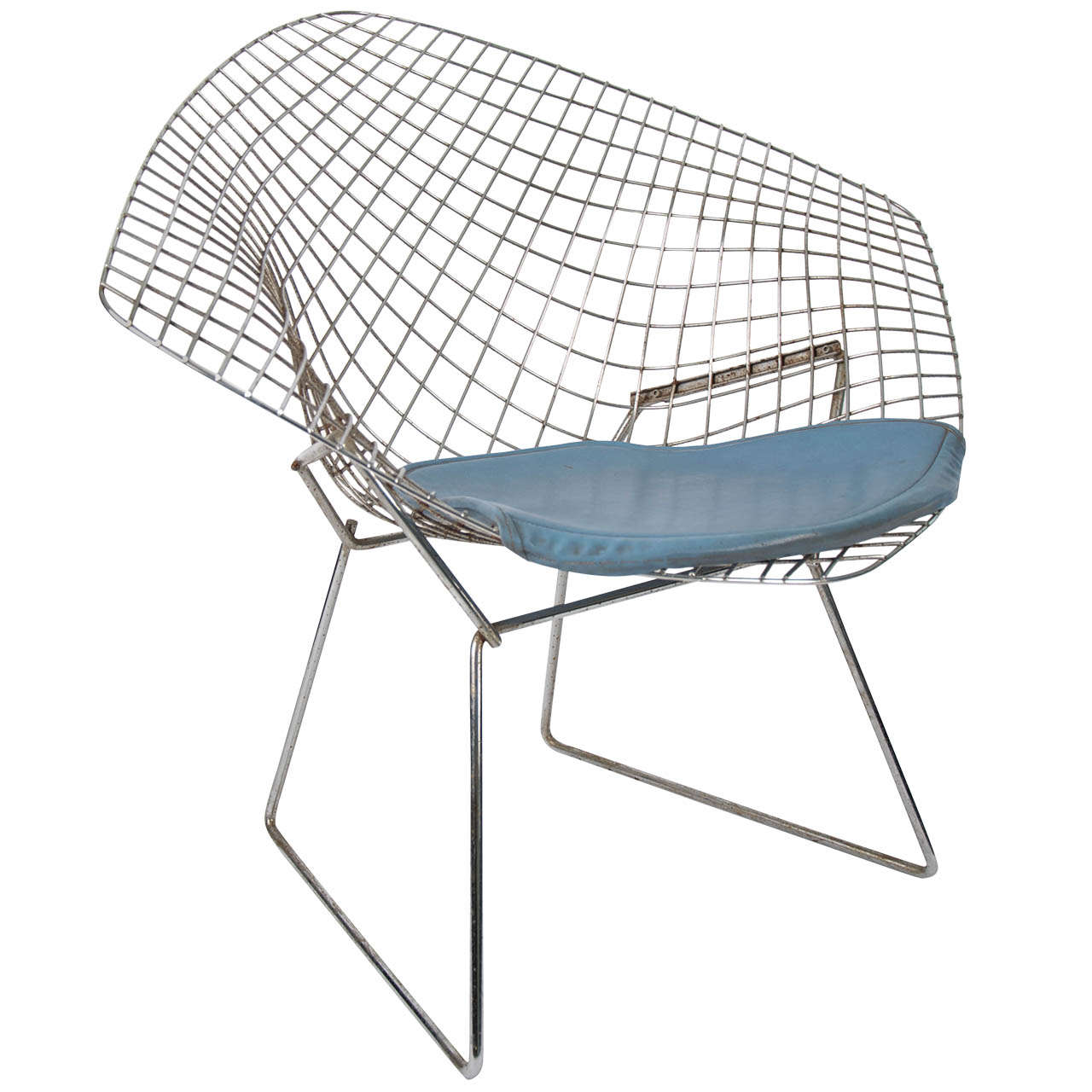 Bertoia diamond chair dimensions - Harry Bertoia Chrome Diamond Chair 1950 1
