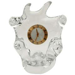 Free Form Crystal Clock by Schneider Glass
