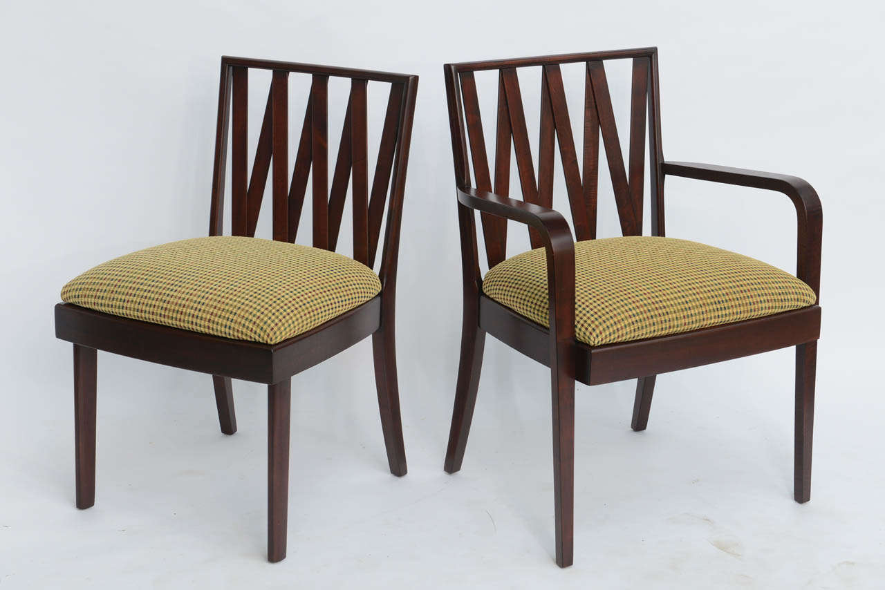 Classic 1940s Paul Frankl Dining Chairs For Johnson