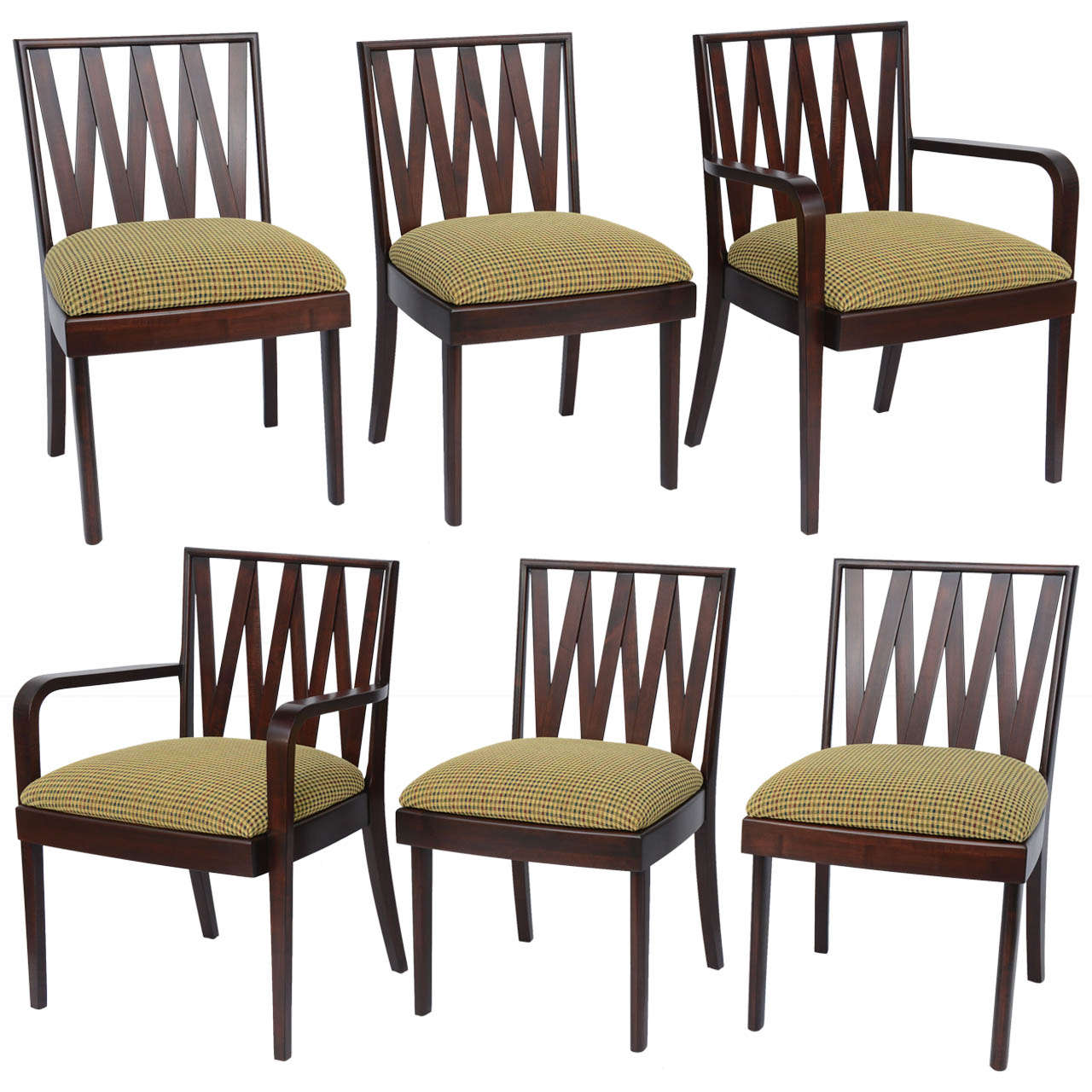 Classic 1940s Paul Frankl Dining Chairs For Johnson Furniture