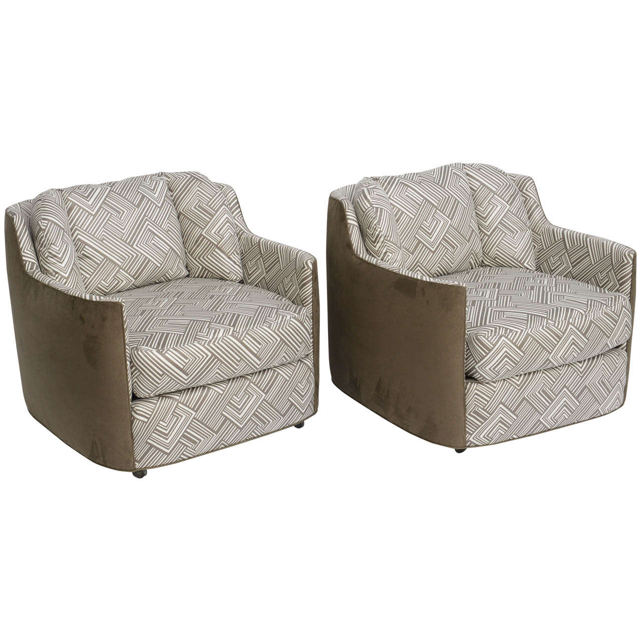 Sumptuous 1970 39 S Henredon Folio 500 Armchairs For Sale At