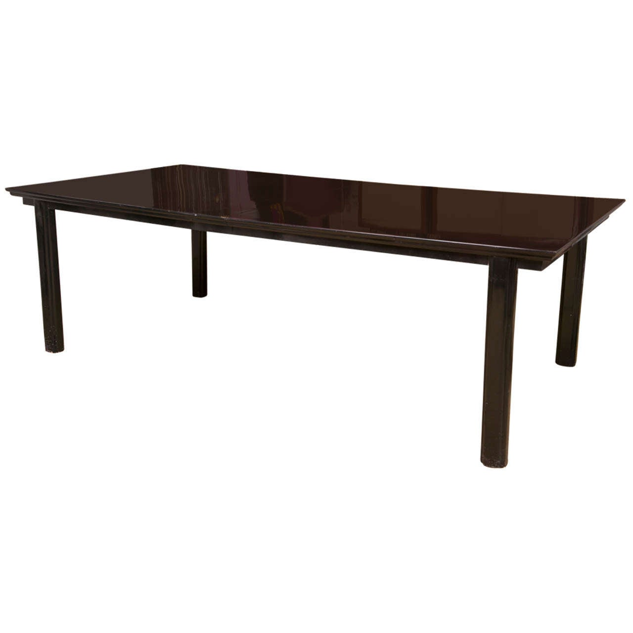 Black lacquer dining table for sale at 1stdibs for Black dining table