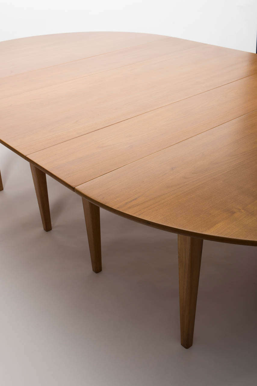 Large Extending Teak Dining Table by Heals of London at  : 017 from 1stdibs.com size 854 x 1280 jpeg 43kB