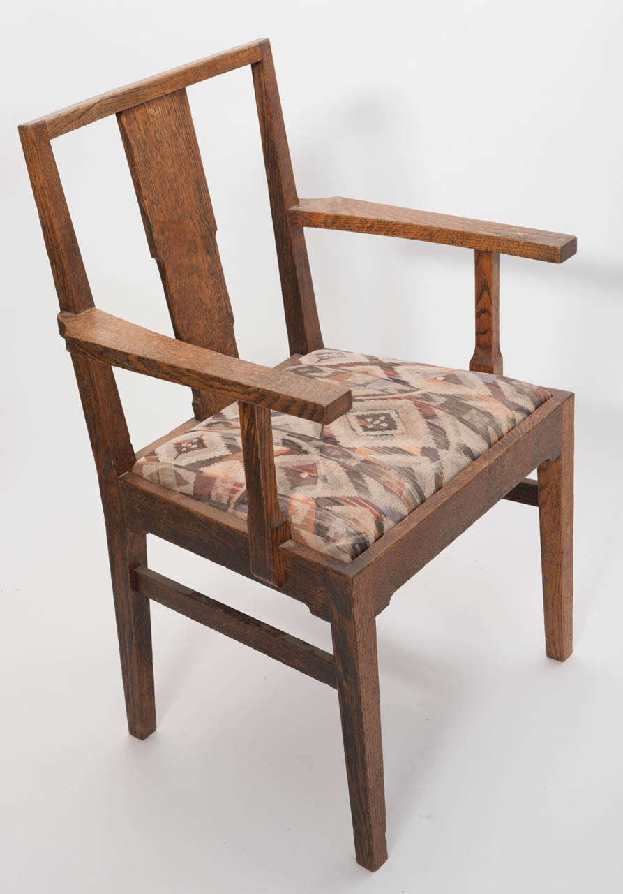 gordon russell set of eight oak dining chairs england