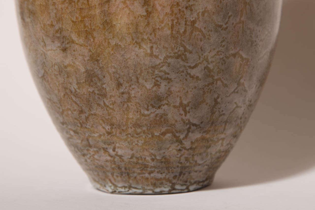 Emile Decoeur French Art Deco Stoneware Vase For Sale 4