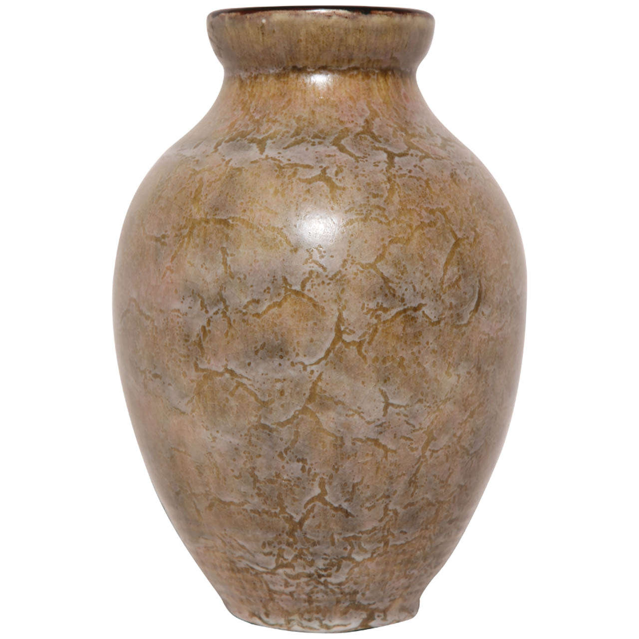 Emile Decoeur French Art Deco Stoneware Vase For Sale