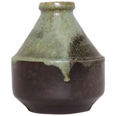Henri Simmen French Art Deco Stoneware Vase